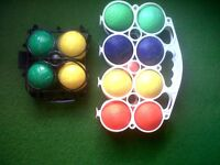 4SALE,2 FRENCH MADE BOWLING SETS,WITH JACKS.ONLY £3,FOR BOTH SETS