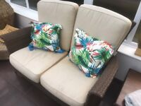 Conservatory/Garden Furniture Set. Bought from Van Hauge, Sofa and 2 chairs