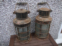 Pair of vintage hand lamps