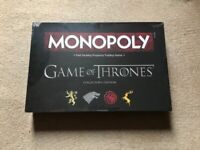 Official Licensed Game of Thrones Collectors Edition Monopoly Board Game Brand New Sealed