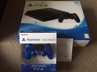 PS4 Slim 500GB 2 Controllers and 2 Games