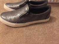 Ladies silver shoes size 7