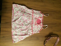 Pink Flowery Top / Pink Butterfly Top - Age 8-9yrs