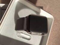 Apple Watch 38mm Stainless Steel Case Silver Milanese loop