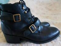 LEATHER Office ladies boots
