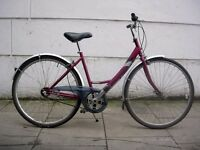 Ladies Hybrid/ Commuter bike by Raleigh, Dutchy Style, Burgundy, JUST SERVICED / CHEAP PRICE!!!!!!!!