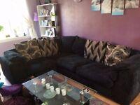 Black Corner Sofa (Sold - awaiting pickup)