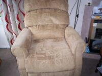 riser recliner chair gold material duel motor