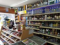 off licence for sale new decorated, 2 schools nearby and a bus stop infront. Good potential