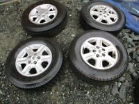 landrover freelander 1 alloy wheels and good tyres 195/80/15