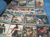 VGC PS3 SLIM 250GB BUNDLE (CONSOLE, 16 GAMES, 2 x CONTROLLERS AND PLAYSTATION