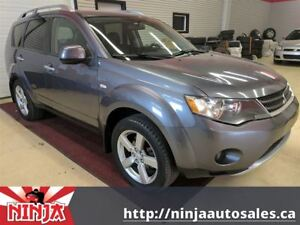 2008 Mitsubishi Outlander XLS 7 PASS-NAVI-DVD-LEATHER-SUNROOF