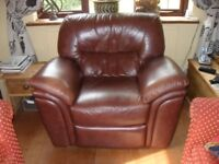 Lovely leather reclining armchair