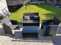4 piece garden furniture set