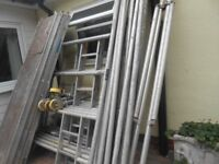 LARGE BOSS DOUBLE WIDTH ALUMINUM SCAFFOLD TOWER 2 METRE.500m WIDE X 8 METRES.200m WORKING HEIGHT