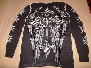New Raw State Redemption Men's Long Sleeve Thermal Tattoo Afflic Kingston Kingston Area image 2