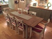Willis & Gambier dining table, along with 8 IKEA chairs