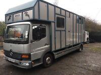 Atego 815d horsebox 3 horses unfinished living 2004