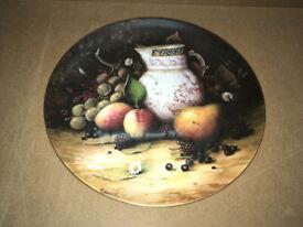 rare Coalport Still Life Fruit Plate - 10 inch