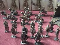 Myths & legends collection. Pewter knights. Plus various other pewter figures.