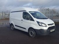 2015- 15 plate ford transit custom 2.2 290 swb high roof van one plc ow...
