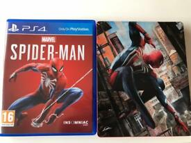 Spider-Man With Steelbook Case PS4