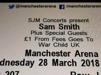 Sam Smith Concert Ticker