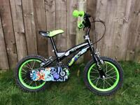 Ben 10 boys bike, amazing condition. Chain guard, all stickers intact. 14 inch tyres.