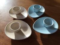 Egg cups and plates
