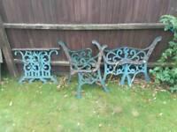 Metal garden furniture ends