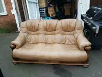 Brown Vintage like leather sofa
