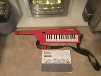 FOR SALE Yamaha shs-10 shs10 keytar keyboard Red WORLD SHIPPING AVAILABLE as seen on to British Gas