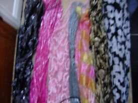 Scarf, selection of scarfs, some are never used, lovely colours