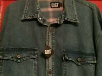 Mens CATERPILLAR denim shirt size large