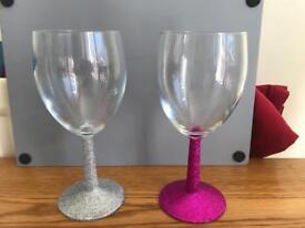 Handmade Glitter glasses
