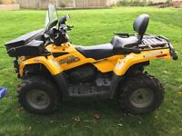 Can-am Outlander Max XT 400 4 wheel drive. 2 seater .