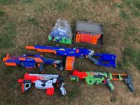 Nerf Guns - Various plus Ammo