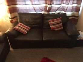 Leather 3 seater 2 seater small sofas