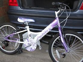 Girls cycle size 10 with gears