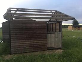 12 x 10 Stable - with heavy duty metal skids