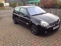 renault clio 182 sport black 05 2 cup packs recent paintwork +refurbed cup wheels.miltek .vgc inoute
