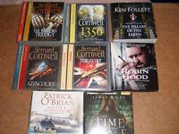 8 Historical Fiction audio books inc Bernard Cornwell warlord trilogy