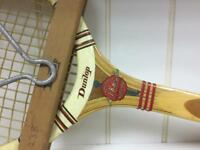 Vintage retro Dunlop tennis racquet with frame retro display prop sport SDHC