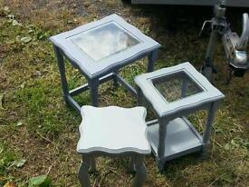 2x nest tables and one side table