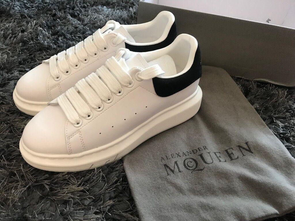 38d709b944d1 White Alexander McQueen Oversized Sneaker Trainer Sizes 4 5 6 7 8 9 10