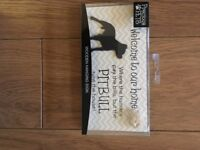 Pitbull Wooden Hanging sign Brand New in Packaging