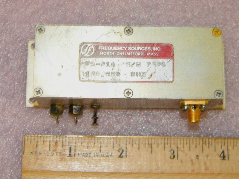 Frequency Sources FS-21A SMA RF Oscillator 168.000-MHz 12-14.5VDC TESTED