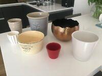 Selection of indoor plant pots (Job lot)