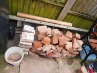 Rubble. Broken bricks