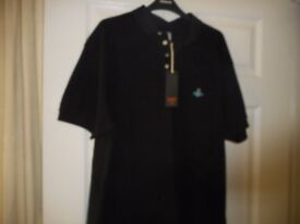 New with label Vivienne Westwood black mens polo shirt from Turkey size 3XL